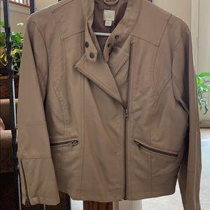 Lauren Conrad Tan ladies leather jacket